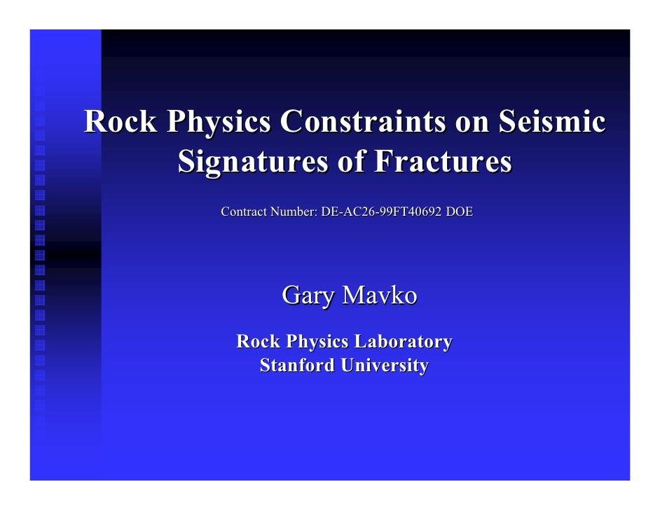 Seismic signature of Fractures