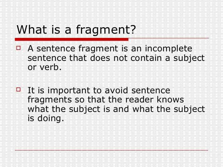 Identifying fragments and run on sentences worksheets