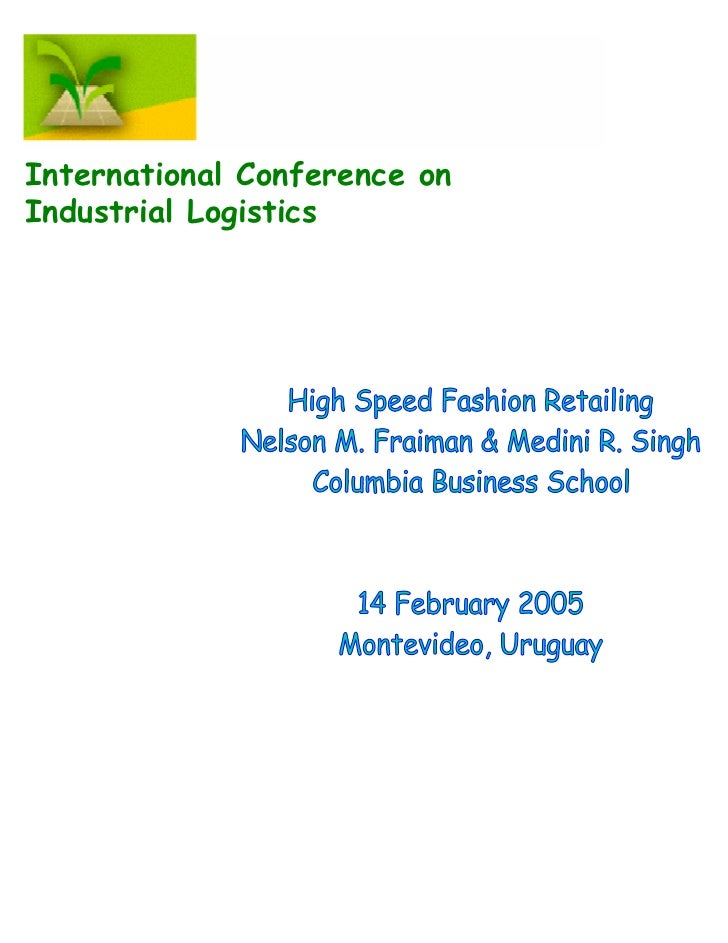 International Conference onIndustrial Logistics