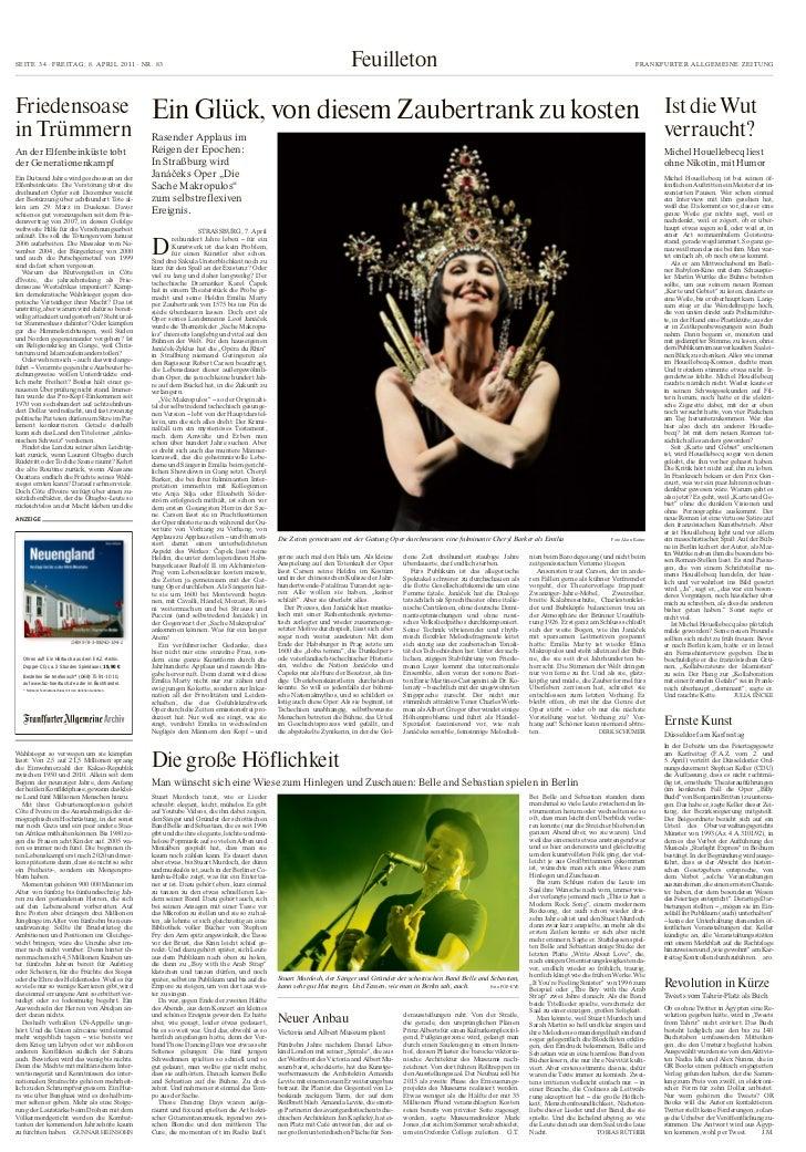 Mtz-Castignani en el Frankfurter Allgemeine