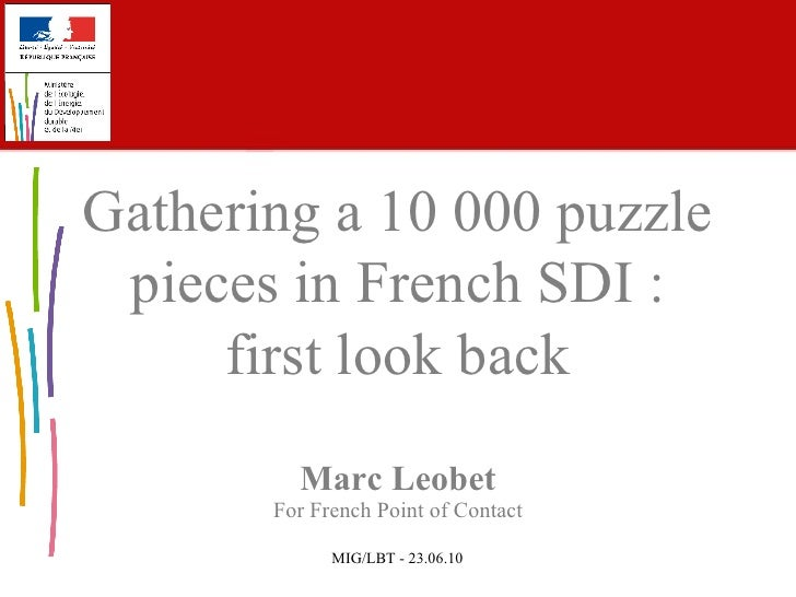 Gathering a 10 000 puzzle pieces in French SDI : first look back
