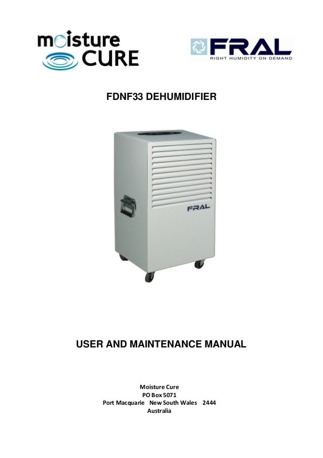 Fral fdnf33 manual