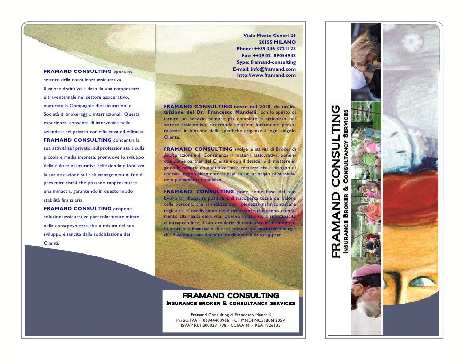 Framand Consulting brochure retail products