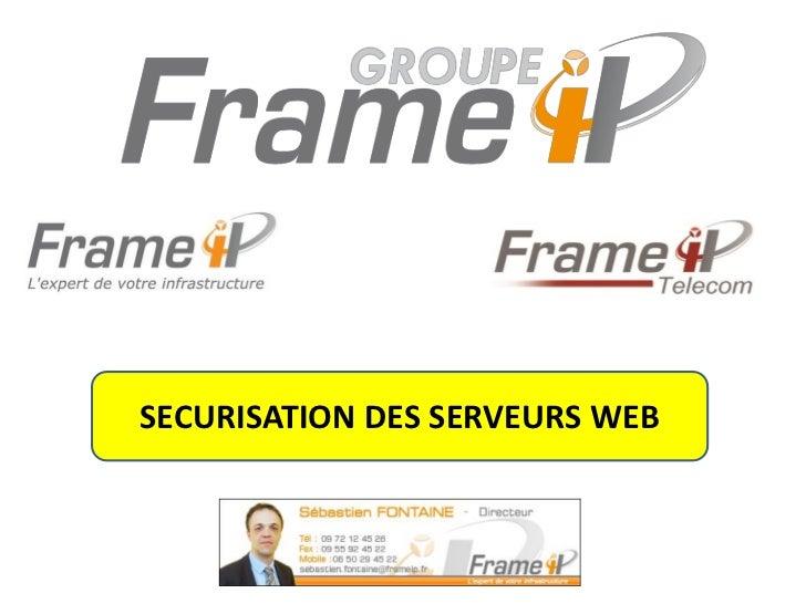 SECURISATION DES SERVEURS WEB