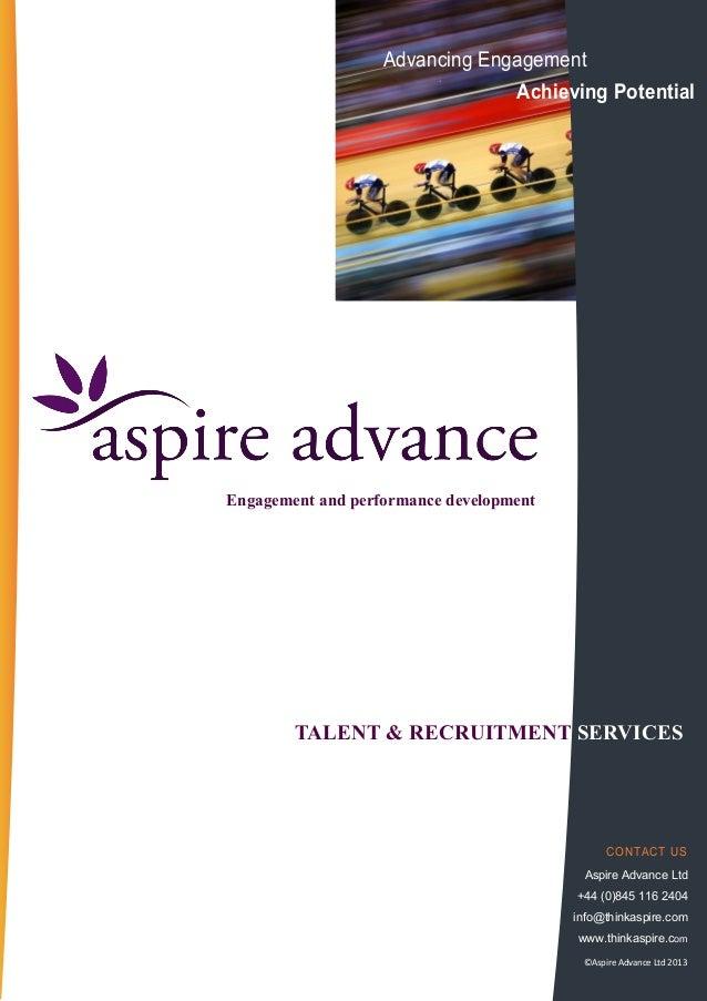 Talent Acquisition and Recruitment Services Performance Development