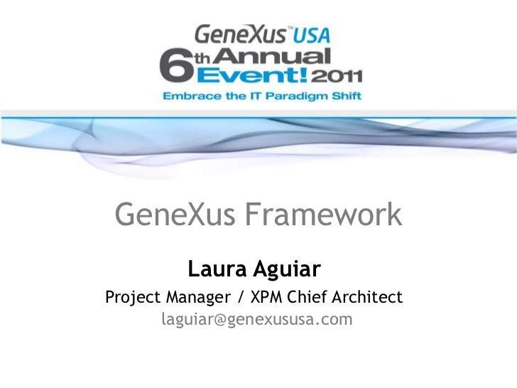 XPM & GeneXus Framework