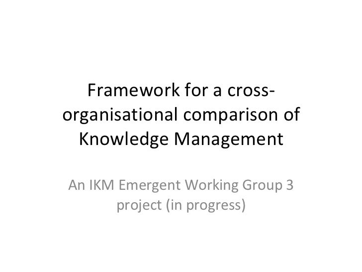 Framework for a cross-organisational comparison of Knowledge Management An IKM Emergent Working Group 3 project (in progre...