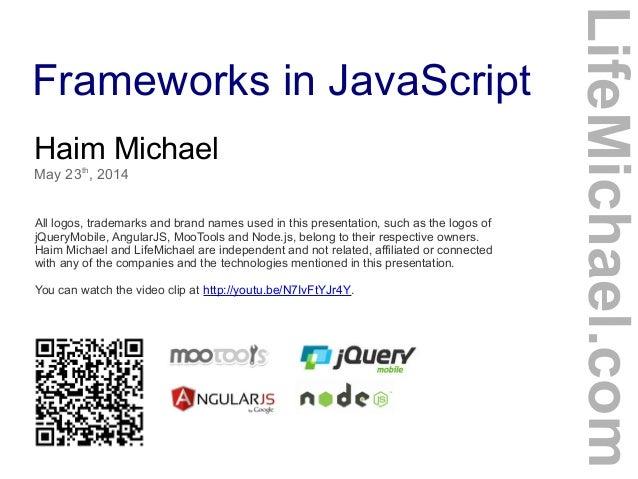 Frameworks in JavaScript