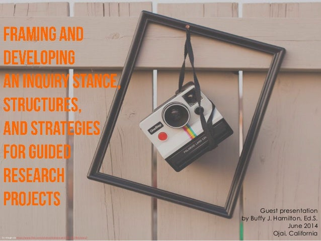 Framing and Developing an Inquiry Stance for Independent Research Projects
