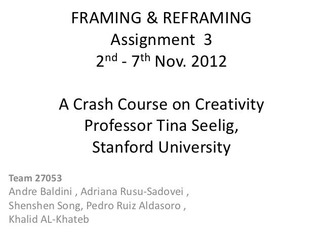 Framing & reframing assignment 3