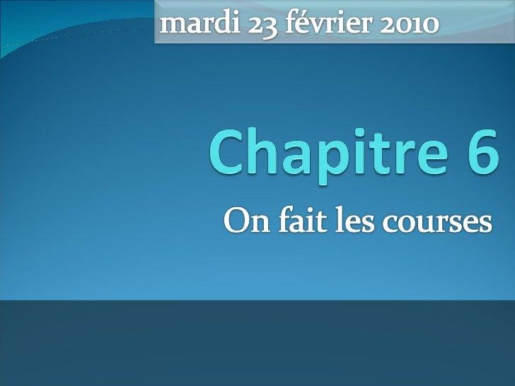Français 1B - Chapitre 6 - Notes