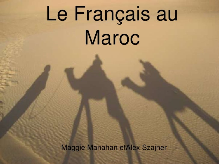 Rencontre francais au maroc