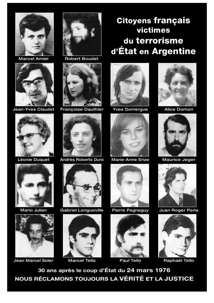 Français disparus sous la dictature argentine