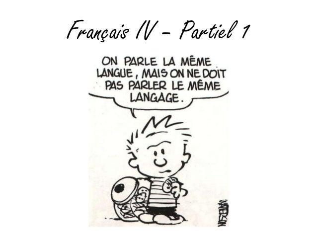 Français IV – Partiel 1