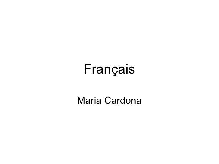 Français Maria Cardona