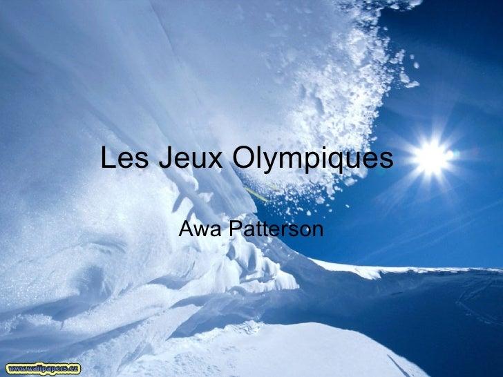 Les Jeux Olympiques  Awa Patterson