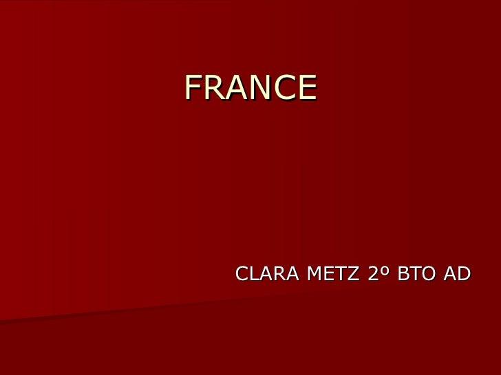 FRANCE CLARA METZ 2º BTO AD