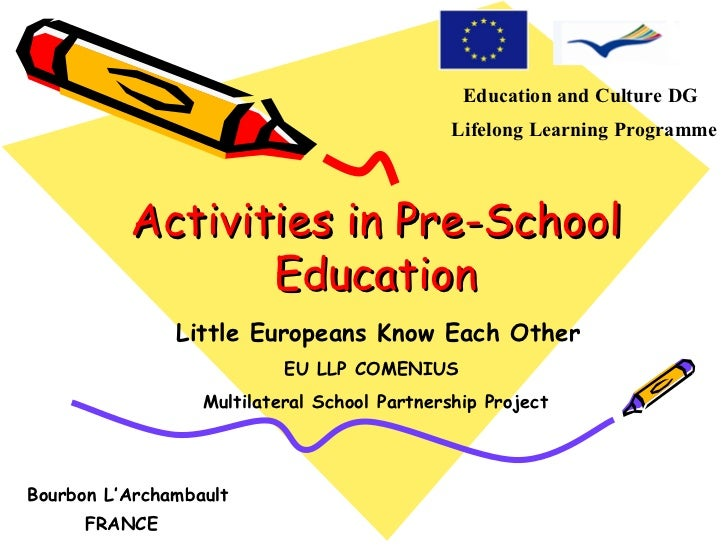France activities in pre school education