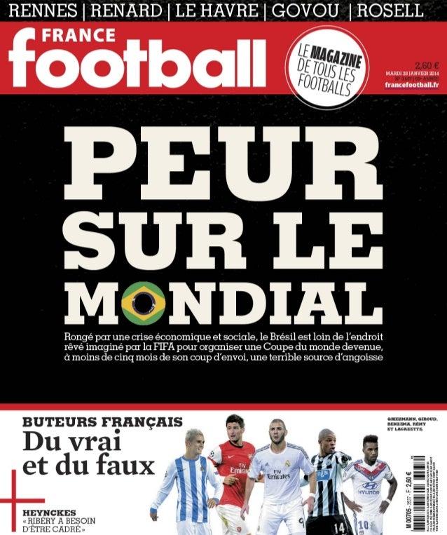 France football mardi n 3537   28 janvier 2014 - peur sur le mondial