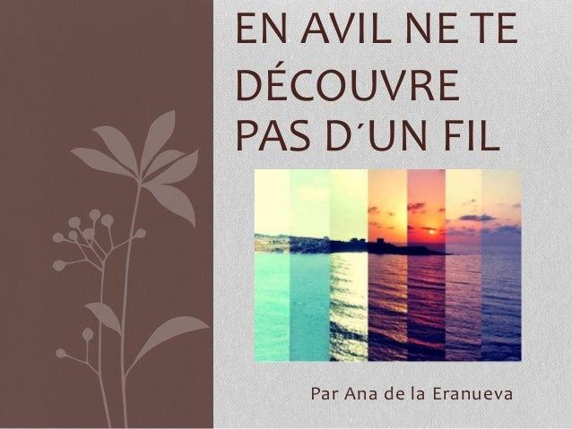 Francés  Ana 2ºB