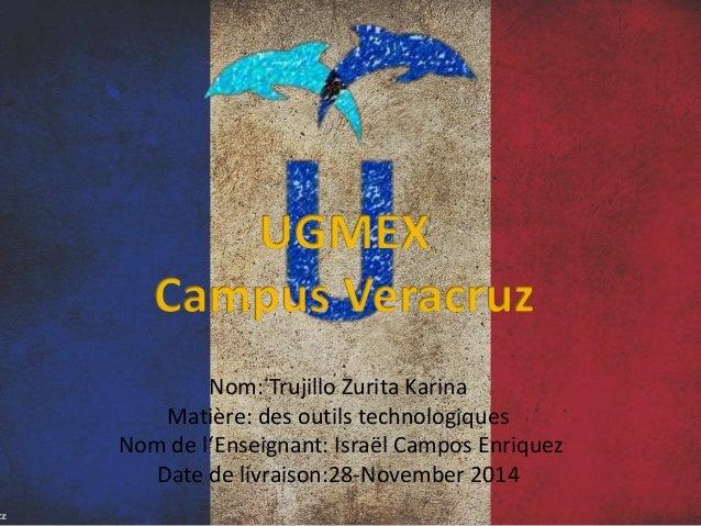 Nom: Trujillo Zurita Karina  Matière: des outils technologiques  Nom de l'Enseignant: Israël Campos Enriquez  Date de livr...