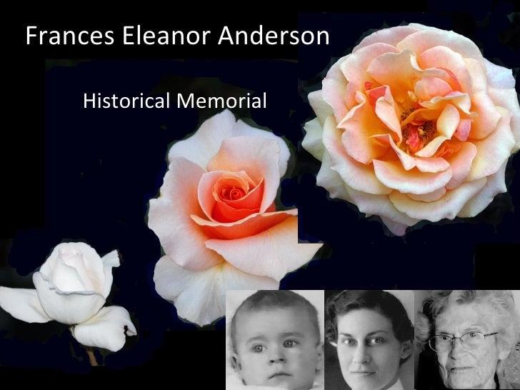 Frances Eleanor Anderson  Historical Memorial