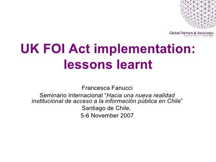 Francesca Fanucci, Ppt