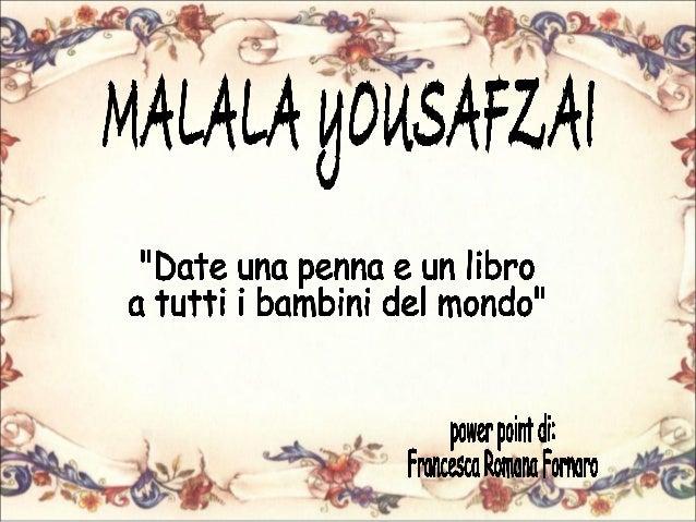 Francesca fornaro malala