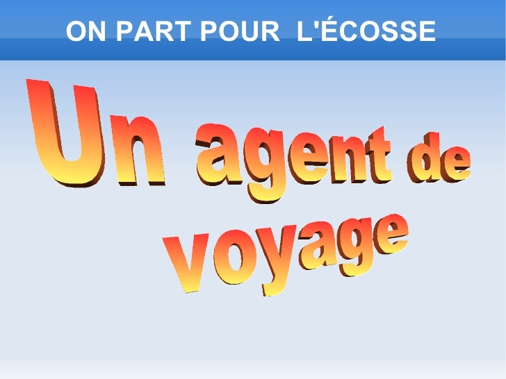 ON PART POUR LÉCOSSE