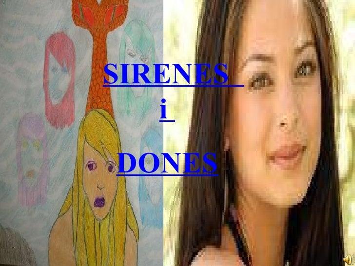 SIRENES  i  DONES