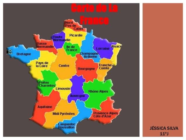 Carte de La France JÉSSICA SILVA 11ºJ