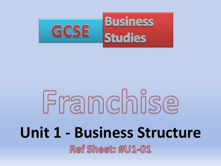 GCSE Business Franchise PowerPoint