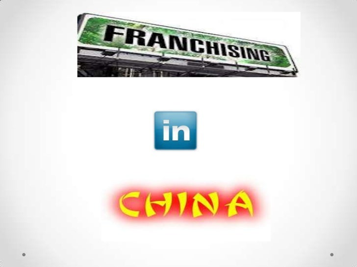 Franchisee in china