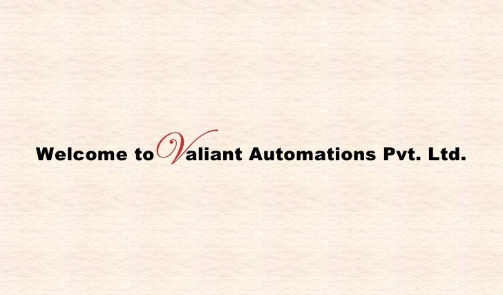 Welcome to  aliant Automations Pvt. Ltd.