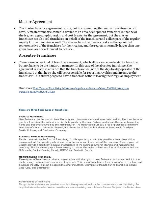 Sample Franchise Agreement 13 Documents In Pdf Word Mandegarfo