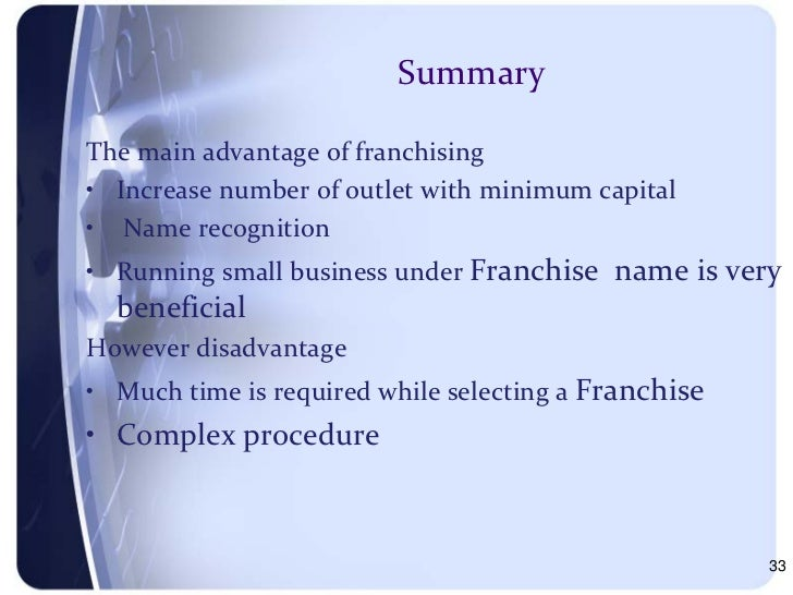 an introduction to the costs and benefits of franchising Introduction: rental car franchising with priceless introduction information for car dealers - niada training and support opportunity awaits costs and benefits learn even more since 1998, priceless car rental has owned, operated and franchised car rental locations all over the united states our unparalleled customer service, premium.