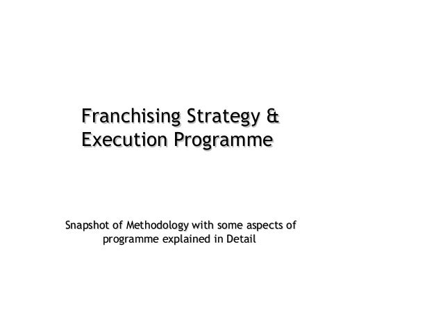 Franchising Strategy Execution Programme