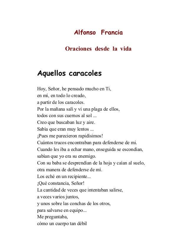 Alfonso Francia. Oraciones desde la vida