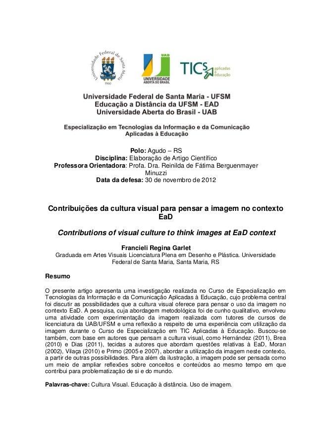 11Polo: Agudo – RSDisciplina: Elaboração de Artigo CientíficoProfessora Orientadora: Profa. Dra. Reinilda de Fátima Bergue...