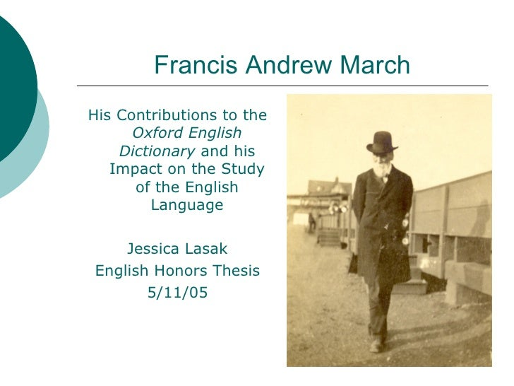 Francis Andrew March Honors Thesis