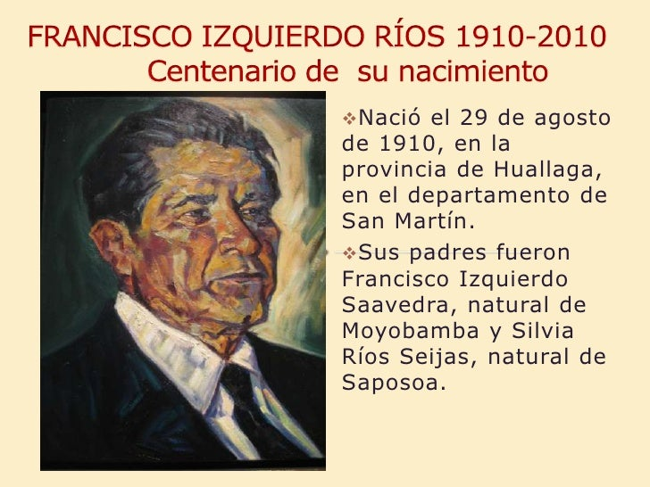 Francisco Izquierdo Ríos .