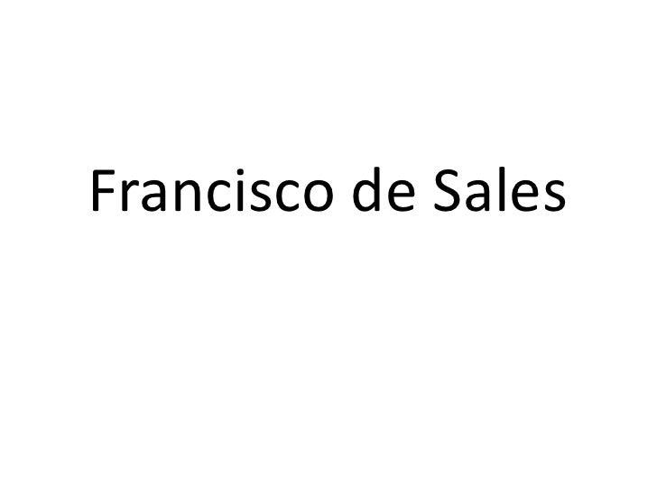 Francisco de Sales