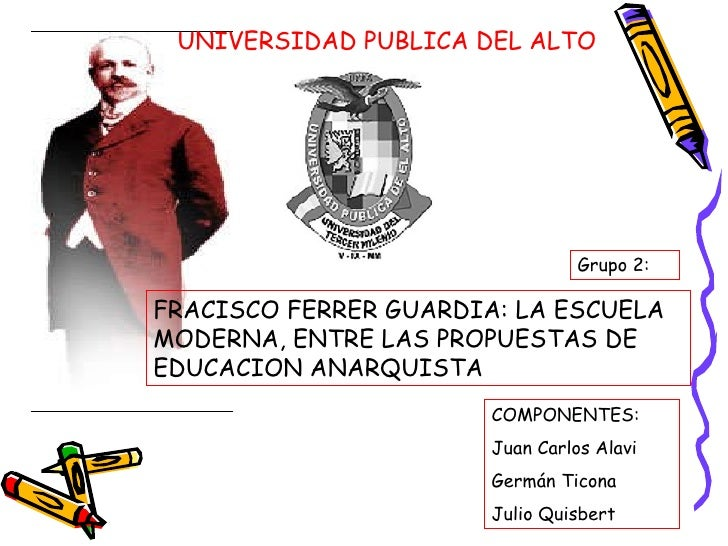 Francisco Ferrer, anarquismo y educación