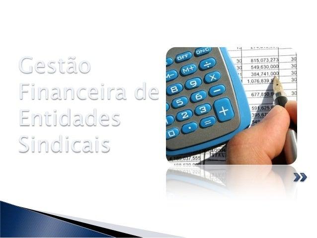 Gestão Financeira de Entidades Sindicais
