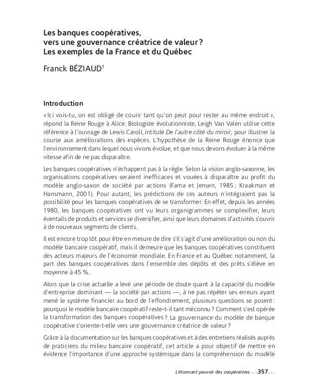 24-Beziaud monté_Mise en page 1 12-09-05 10:42 Page357                Les banques coopératives,                vers une go...
