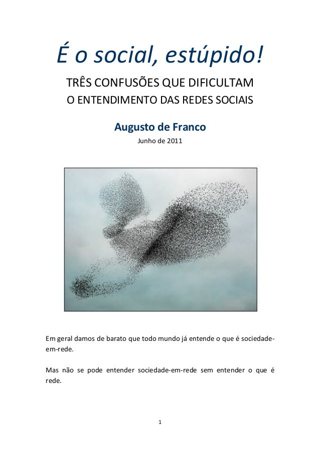 FRANCO, Augusto - É o Social, Estúpido!