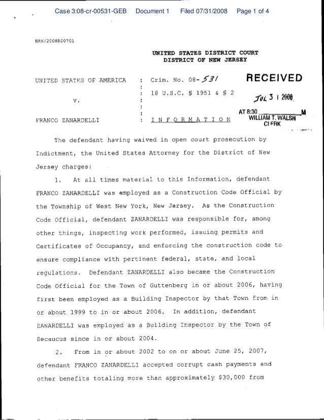 Case 3:08-cr-00531-GEB  Document 1  Filed 07/31/2008  Page 1 of 4