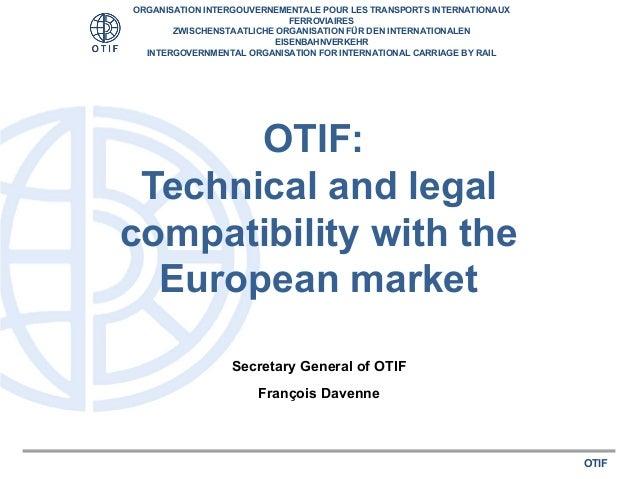 François davenne  intergovernmental organisation for international carriage by rail (otif)