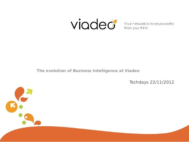 The evolution of Business Intelligence at Viadeo                                           Techdays 22/11/2012