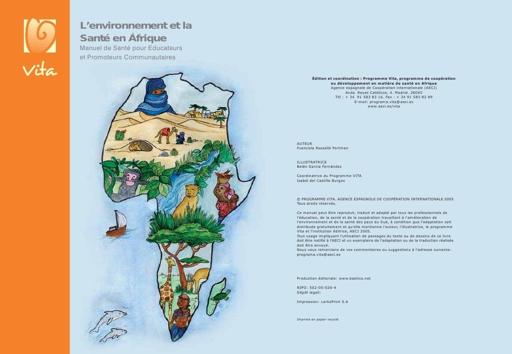 L'environnement et la Santé en Áfrique Manuel de Santé pour Educateurs et Promoteurs Communautaires